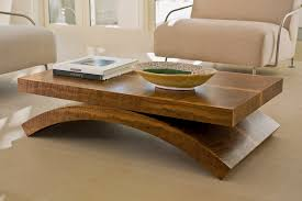 Modern Wood Furniture Table With Ivory Chairs For Living Room