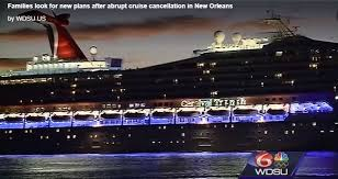 carnival triumph cancels cruise due to technical problems