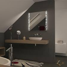 spiegel hinterleuchtet mit zwei streifen rosemary