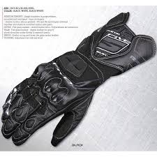 rxf1 motorcycle long leather gloves with kevlar insertion