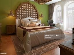 orientalisches schlafzimmer im arabischen stil mit einem