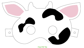 Here Is A Free Printable For Cow Mask
