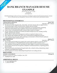 Resume Examples For Bankers With Bank Branch Manager Samples Across All Banking To Produce Perfect