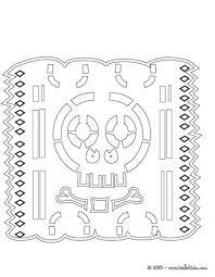 Skeleton Paper Garland Skull Cut Decoration Coloring Page