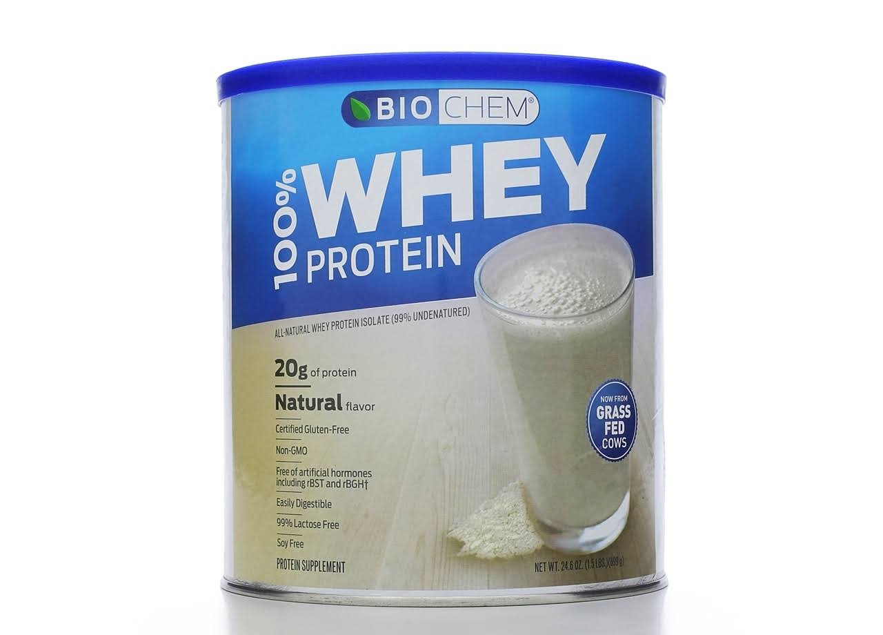 Biochem Sports Natural Whey Protein Isolate Powder - 24.6oz