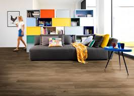 Natural Dark Oak Effect Premium Luxury Vinyl Click Flooring Sample
