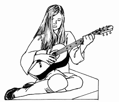 Free Printable Guitar Coloring Pages Virtren