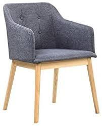salesfever armlehnstuhl ando anthrazit esszimmer stuhl mit stoffbezug modern gepolstert holzfüße eiche wohnzimmer stuhl sessel mit