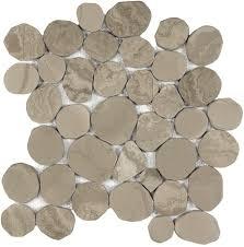 Shell Stone Tile Imports by Anatolia Tile Spellbinder Pebble Mosaic Natural Stone Marble Wall