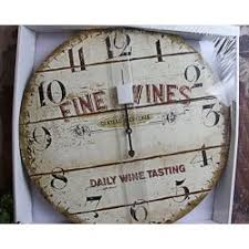 A Charming Wooden Wall Clock For All You Wine Lovers