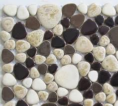 glazed porcelain tile glass pebble mosaic tile ppmt041 pebble