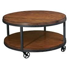 Industrial Metal Wood Round Coffee TableIndustrial Coffee Table On