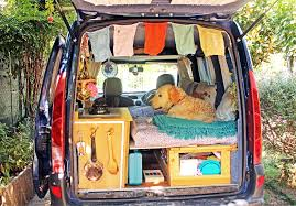 100 Vans Homes Italian Woman Restores Old Van To Travel The World With Her Rescue Dog