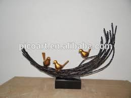 Metal Art And Crafts Bird Nest Sculpture Handicraft Made In China