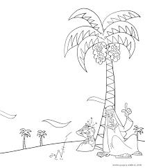 Arab Folk Tale Coloring Page