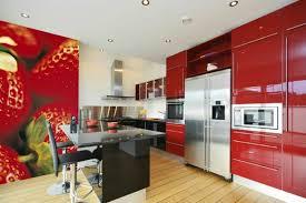 tapisserie pour cuisine le papier peint de cuisine vous recouvre d une fraîcheur et provoque