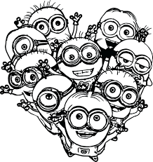 Free Printable Minion Birthday Coloring Pages On Evil Colouring