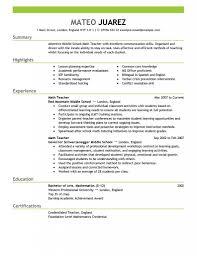 Teacher Resume Examples - Substitute Teacher Resume Summary