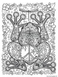 Printable Colouring Pages For Adults Flowers Adult Animals Big Frog Coloring Book Print Free Find Kids
