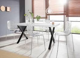 essgruppe ixus michael 180 set 5 tlg mit 4 stühlen tisch mit x gestell in edelstahl oder schwarz moebelat suchmaschine ladendirekt at