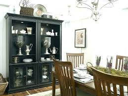 Hutch Dining Room Black Table And Buffet Throughout