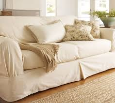 Twill Separate Seat Tailored Loose Fit Slipcover