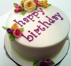 Happy birthday cake with colorful roses hs images just for you