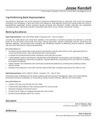 Sample Banking Resumes Bank Customer Service Representative Resume Unique Good Examples Ideas 1 For Freshers Job
