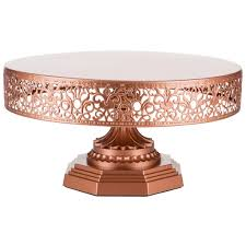 12 Inch Round Metal Wedding Cake Stand Rose Gold