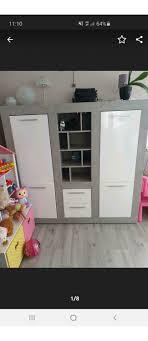 wohnzimmern set schrank kommode spiegel