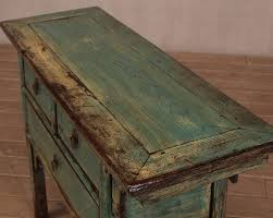 sideboard antik 3 schubladen türkis asia möbel