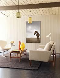 mid century sofa living room modern with column floor l living
