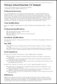 Teaching Resumes Examples Samples Of For Teachers Sample Resume Example