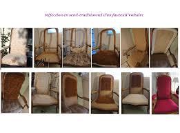 tapissier siege retapisser un fauteuil voltaire en semi traditionnel tapissier