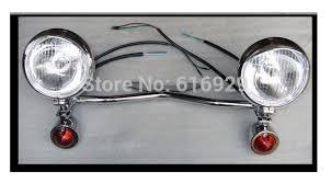 Harley Davidson Light Bar by Motorcycle Chrome Driving Passing Turn Signals Spot Head Light Bar