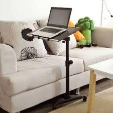 table ordinateur portable canapé fbt07n br table de lit avec plateau inclinable pour pc ordinateur