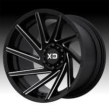 100 Xd Truck Wheels KMC XD Series XD834 Cyclone Satin Black Milled Custom Rims