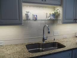 diy floating shelves with lights gl built in light kitchen layouts
