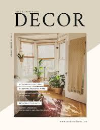 100 Modern Interior Design Magazine Cover Template Visme