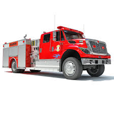 100 Pumper Truck Red Rescue Fire 3D Model CGTrader