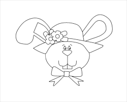 Easter Bunny Face Free Coloring Page Download