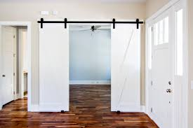 White Barn Doors For Homes — New Decoration : Ideas Of Reusing ... White Barn Door Track Ideal Ideas All Design Best 25 Sliding Barn Doors Ideas On Pinterest 20 Diy Tutorials Jeff Lewis 36 In X 84 Gray Geese Craftsman Privacy 3lite Ana Door Closet Projects Sliding Barn Door With Glass Inlay By Vintage The Strength Of Hdware Dogberry Collections Zoltus Space Saving And Creative