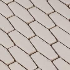 linen elongated hexagon porcelain mosaic 12 x 12 100183250