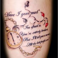 Lewis Carroll Quote Tattoo