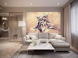 bilderdepot24 fototapete selbstklebend wikinger ii vintage 225x150 cm moderne wand deko dekoration wohnung wohnzimmer wandtapete