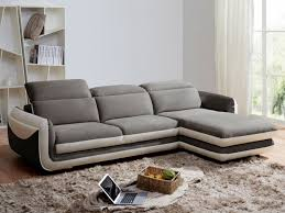 canapé d angle but gris et blanc canapé d angle iago pas cher microfibre cuir angle droit gris