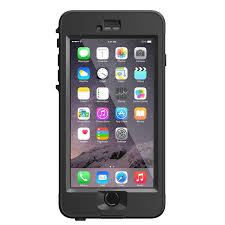 LifeProof Nuud Apple iPhone 6 Plus 6s Plus Waterproof Case Black