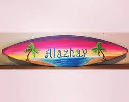 Decorative Surfboard Wall Art by Decorative Surfboard Etsy