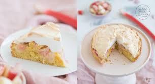 rhabarberkuchen mit baiser backen macht glücklich
