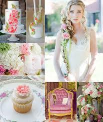 Romantic Pink And Green Tangled Princess Wedding Inspirations